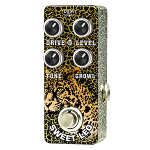 "<p>XVIVE SWEET LEO MICRO OVERDRIVE BY THOMAS BLUG</p> <p><span>Xvive Sweet Leo overdrive allows you to blend a cleaner more elegant overdrive characteristic with shimmering bell type hi-end known from Class A tube amplifiers, to the raunchy and ""dirty"" overdrive sound, known from cranked up good old tweed amps.</span><br /><br /><span>Designed to be more than a rhythm guitar pedal, it has a tight low end and pulsing clarity even on high gain settings, you can hear the original tone even with the drive on full.</span><br /><br /><span>Roll back the level pulling the volume on the tone for a clean boost. </span><br /><br /><span>Xvive Sweet Leo overdrive allows you to blend a cleaner more elegant overdrive characteristic with shimmering bell type hi-end known from Class A tube amplifiers, to the raunchy and ""dirty"" overdrive sound, known from cranked up good old tweed amps.</span><br /><br /><span>Designed to be more than a rhythm guitar pedal, it has a tight low end and pulsing clarity even on high gain settings, you can hear the original tone even with the drive on full.</span><br /><br /><span>Roll back the level pulling the volume on the tone for a clean boost.– takes a sharp distortion and gives it some extra room</span><br /><br /><span>Foot Switch toggle effects on/bypass (blue LED ""on"" indicator)</span></p>"