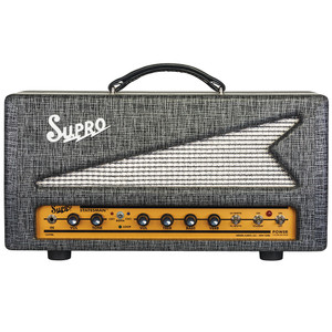 <p>SUPRO STATESMAN 50W TUBE AMPLIFIER HEAD - 240V</p> <p><span>The 1699R Statesman is a two-channel, 50W amplifier that unites vintage Supro tone with modern channel switching functionality, tube-driven reverb and a multi-purpose, all-tube effects loop.</span><br /><br /><span>The red channel found in the Statesman uses the two-knob preamp from the legendary Supro Thunderbolt amplifier for high-headroom rock &amp; roll power. The Statesman&rsquo;s blue channel contains the high-gain preamp, 2-band EQ and all-tube reverb section of our acclaimed Comet model. The Statesman provides A/B/Both channel switching operation, allowing the two channels to be run in parallel, creating a massive, dual-preamp sound where each channel contributes part of the overall texture.</span><br /><br /><span>In addition to the tube-driven spring reverb, the Statesman&rsquo;s blue channel contains an all-tube, switchable effects loop that provides a set of useful functions&mdash;including &ldquo;wet only&rdquo; reverb effects, which can be independently dialed in and blended with the dry sound from the red channel. The variable send and return levels allow the effects loop to function as a level and/or gain boost when engaged, even when nothing is plugged into the loop. The effects loop can also act as a master volume for the blue channel when bedroom levels are desired. As a final touch, both the effects loop and the reverb on the Statesman feature a relay-controlled &ldquo;spill-over&rdquo; effect, allowing reverb and delay trails to decay naturally when switching between channels.</span><br /><br /><span>The 50-watt power amp in the Statesman is switchable between Class A and Class AB operation. The Class-A (cathode bias) setting provides the distinctive midrange growl that has been the cornerstone of the Supro sound since the company was founded in 1935. The Class AB (grid bias) configuration presents less compression along with additional headroom, more punch and faster attack. The Sta