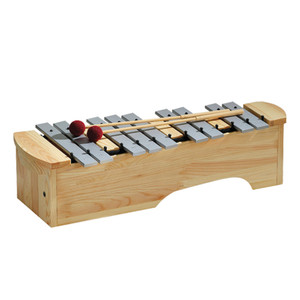 The attractively-lacquered finish of the durable aluminium alloy tone bars underlines the quality of these percussion instruments. Again, the uniquely resonant design of the tone case offers good projection and tone balance throughout the range.  Diatonic instruments can be converted to F major or G major using the extra Bb and F# bars.