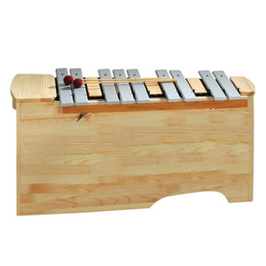"""1 1/2"""" wide bars. 10.7kg <br>The attractively-varnished finish of the durable aluminium alloy tone bars underlines the quality of these percussion instruments.<br>Again, the uniquely resonant design of the tone case offers good projection and tone balance throughout the range.<br>Diatonic instruments can be converted to F major or G major using the extra Bb and F# bars."""