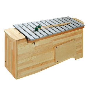 """Includes 2 F# bars and Bb bar, 1 1/2"""" wide bars, 4 beaters. 15kg. <br>The attractively-varnished finish of the durable aluminium alloy tone bars underlines the quality of these percussion instruments.<br>Again, the uniquely resonant design of the tone case offers good projection and tone balance throughout the range.<br>Diatonic instruments can be converted to F major or G major using the extra Bb and F# bars."""