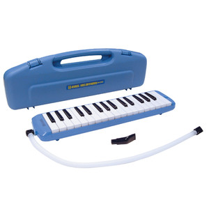 """Size: 42.5 x 10 x 5cm. Weight: 554g. Carry Case. <br>Angel Melodyhorn blow keyboards are ideal instruments for school use, solo playing or ensemble work. They are an inexpensive way to teach children the basics of keyboard playing and being non-electrical can be used in any environment. Robustly manufactured, the instruments can be played in """"recorder"""" style or on a desk/table top."""