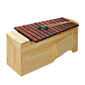 C2 - A3, 16 bars (includes 2 F# bars and Bb bar),1 1/4 wide bars, 4 beaters. 4.4kg <br>Featuring a tone box specially designed for improved resonance, the tone bars are made from selected hardwoods for maximum sound projection and tone. Diatonic instruments can be converted to F major or G major using extra bars of Bb and F#.