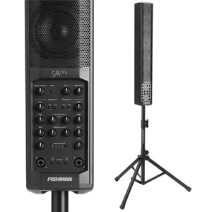 "<p>FISHMAN SA330X PERFORMANCE AUDIO SYSTEM</p> <p><span>The SA330x is the go-to portable PA/amplifier for voice, playback and amplified acoustic instruments.</span><br /><br /><span>Unlike many other similar-looking systems, the SA330x is built around a uniquely configured 2-way speaker system that delivers all the sweetness and definition of a great studio monitor. Ruggedly built and with plenty of power, the SA330x is the perfect solution for amazing sound in small and medium-sized venues.</span><br /><br /><span>Tuned beautifully for voice and acoustic instruments, the new SA330x, alone or as part of an expanded system, allows anyone looking to fill a small to medium sized room, corporate display, club or similar sized venue with great, Fishman-quality sound.</span><br /><br /><span>Whether you&rsquo;re using your SA330x for speech, performance or playback, a full complement of inputs and outputs makes set-up a breeze.</span><br /><br /><span>The SA330x features a uniquely configured 2-way speaker system that delivers all the sweetness and definition of a great studio monitor. The &ldquo;Modified Line Array&rdquo; fills the room with sound that can be heard clean and clear in the back row, without &ldquo;blowing away&rdquo; your audience in the front.</span><br /><br /><span>SA330x features:</span><br /><span>&bull; 330 Watts &ndash; More than enough power for small and medium sized venues.</span><br /><span>&bull; Wide dispersion modified line array &ndash; Allows everyone in your audience to hear you clean and crisp, without &ldquo;blowing away&rdquo; the front row.</span><br /><span>&bull; Channel expandability via accessory port &ndash; Provides one-cable audio and power for the SA Expand.</span><br /><span>&bull; Full-range audio source handling.</span><br /><span>&bull; Subwoofer output &ndash; Dedicated output optimizes system voicing.</span><br /><span>&bull; Modern industrial design &ndash; Strong, lightweight, good looking and easy to set up. Appropriate for all kinds of situations.</span><br /><span>&bull; Padded carry sleeve included.</span><br /><br /><span>SA330x FEATURES &amp; INFO</span><br /><span>POWER: 330 Watts, bi-amped</span><br /><span>DRIVERS: Six 4"" mid-woofers, patented dual gap, high excursion design, neodymium magnets. One 1"" neodymium soft dome tweeter with Level control</span><br /><span>SPL: 113dB SPL @ 1 meter</span><br /><span>DRIVER CONFIGURATION: Modified Line Array; Ultra-wide horizontal dispersion and deeper sound penetration</span><br /><span>DIMENSIONS: 41.4"" H x 5.5"" W x 6.7"" D (1052 mm) x (140 mm) x (170 mm)</span><br /><span>WEIGHT: 27.5 lbs (12.47 kg) including stand and padded carry sleeve</span><br /><span>SA330x: 19.8 lbs (8.98 kg)</span><br /><span>Stand: 6.7 lbs (3.04 kg)</span><br /><span>Carry Bag: 1 lb (.45 kg)</span></p>"