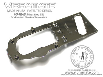 "<p>VIBRAMATE V5 STAGE 1 AMERICAN STD TELE</p> <center> <p><span style=""font-family: Verdana, Arial, Helvetica, sans-serif; font-size: medium;""><strong>Mounting Kit for Bigsby B5 - American Standard Telecaster&reg; Guitars</strong></span></p> </center> <p><span style=""font-family: Verdana, Arial, Helvetica, sans-serif; font-size: xx-small;""><strong>* Note: Vibramate V5 is designed for the Bigsby ""Original"" B5 Vibrato ONLY and will not work with other variations such as the ""Licensed"" B50 Model or the Import B500 Model. Make sure you have the correct Bigsby Vibrato for proper installation of the Vibramate Kit!</strong></span></p> <p>&nbsp;</p> <center> <p><span style=""font-family: Verdana, Arial, Helvetica, sans-serif; font-size: large;""><strong><em>Vibramate V5-TEAS-1 Installs in Minutes with No Drilling!</em></strong>&nbsp;</span><br /><span style=""font-family: Verdana, Arial, Helvetica, sans-serif; font-size: medium;"">Fits most American Standard Telecaster&reg; guitars with 3-screw mount bridges.</span></p> <p><a href=""http://www.vibramate.com/images/Vibramate-V5-TEAS1-640.jpg""><img src=""http://www.vibramate.com/images/Vibramate-V5-TEAS1a-800.jpg"" alt=""Vibramate"" width=""800"" height=""600"" align=""middle"" border=""0"" /></a></p> <p><a href=""http://www.vibramate.com/images/V5-TEAS-ExplodedView-600.gif""><img src=""http://www.vibramate.com/images/V5-TEAS-ExplodedView-600.gif"" alt=""Vibramate"" width=""600"" height=""600"" align=""middle"" border=""0"" /></a></p> <p align=""LEFT""><span style=""font-family: Verdana, Arial, Helvetica, sans-serif; font-size: small;"">Now you can install a Bigsby Vibrato on your American Standard Telecaster&reg; style guitar without drilling any holes! The Vibramate V5-TEAS-1 Model Mounting Kit is designed for a&nbsp;<a href=""http://www.bigsbyguitars.com/vibe/?page_id=118"" target=""_blank"">Bigsby B5 Original Vibrato</a>&nbsp;and will fit most American Standard Telecaster&reg; guitars that have a 3-screw mount bridge.</span></p> <p align=""LEFT""><a href=""http://www.gretschstore.com/catalog/index.php?main_page=product_info&amp;cPath=7&amp;products_id=125"" target=""_BLANK""><img src=""http://www.vibramate.com/images/Vibramate-V5-TEAS-Kit-220.jpg"" alt=""Vibramate"" width=""220"" height=""188"" align=""right"" border=""0"" /></a><span style=""font-family: Verdana, Arial, Helvetica, sans-serif; font-size: small;"">The Vibramate V5-TEAS kit includes mounting hardware for the Bigsby B5 Vibrato and utilizes your existing Telecaster&reg; pickup and mounting hardware. There is no need for drilling, soldering or removing the neck. Conversion to 3 Saddle design is required for the Bigsby to work properly.</span></p> <p align=""LEFT""><span style=""font-family: Verdana, Arial, Helvetica, sans-serif; font-size: small;"">The Vibramate V5-TEAS-1 automatically positions the Bigsby Vibrato in the proper orientation ensuring a clean, finished appearance with great performance.</span></p> <p align=""LEFT""><span style=""font-family: Verdana, Arial, Helvetica, sans-serif; font-size: small;"">Conversion to 3 Saddle design is required for the Bigsby to work properly.</span></p> <p align=""LEFT""><span style=""font-family: Verdana, Arial, Helvetica, sans-serif; font-size: small;"">The kit installs in minutes and eliminates the need for drilling holes in your instrument.</span></p> <p align=""LEFT""><span style=""font-family: Verdana, Arial, Helvetica, sans-serif; font-size: small;"">Be sure to follow the&nbsp;<a href=""http://www.vibramate.com/images/instructions/Vibramate-V5-TEAS-Instructions.gif"">mounting instructions</a>&nbsp;to prevent damage to your instrument.</span></p> <p align=""LEFT"">&nbsp;</p> <center><a href=""http://www.vibramate.com/images/Vibramate-V5-TEAS1-640.jpg""><img src=""http://www.vibramate.com/images/Vibramate-V5-TEAS1-280.jpg"" alt=""Vibramate"" width=""280"" height=""200"" border=""0"" /></a>&nbsp;<a href=""http://www.vibramate.com/images/Vibramate-Cabronita1-640.jpg""><img src=""http://www.vibramate.com/images/Vibramate-Cabronita1-280.jpg"" alt=""Vibramate"" width=""280"" height=""200"" border=""0"" /></a></center> <p>&nbsp;</p> <p>&nbsp;</p> <center> <table style=""width: 820px;"" cellpadding=""10""> <tbody> <tr> <td><center><a href=""http://www.vibramate.com/images/VB-V5-TEAS-1200.gif""><img src=""http://www.vibramate.com/images/VB-V5-TEAS-400.gif"" alt=""Vibramate"" width=""400"" height=""310"" border=""1"" /></a><br /><span style=""font-family: Verdana, Arial, Helvetica, sans-serif; font-size: xx-small;"">Installation Chart V5-TEAS: American Standard</span></center></td> <td><center><a href=""http://www.vibramate.com/images/VB-V5-TEAS-ST-1200.gif""><img src=""http://www.vibramate.com/images/VB-V5-TEAS-ST-400.gif"" alt=""Vibramate"" width=""400"" height=""310"" border=""1"" /></a><br /><span style=""font-family: Verdana, Arial, Helvetica, sans-serif; font-size: xx-small;"">Installation Chart V5-TEAS-ST Shorty: Cabronita</span></center></td> </tr> </tbody> </table> </center></center>"