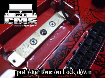 """<p><span>*</span><span>NEW</span><span>* FU-Tone and Mike Learn are pleased to bring you the new PMS (Pickup Mounting System)! The PMS mounts directly into your pickup cavity giving your pick up a direct mounting platform of our famous FU Bell Brass. The increased resonance form the body to the brass to your pickup will add more warmth and sustain.</span><br /><br /><span>Guitar pickups do not just """"listen"""" to the strings in motion above, they feed off the vibrations happening all around them. Poorly mounted pickups can actually cancel some frequencies. Mount pickups directly into the wood of the guitar, and you get improved tonal response. Add a piece of tone resonate material like the new PMS by FU and the results are even more intense.</span><br /><br /><span>The PMS solution is designed to elicit the maximum performance from your pickup. When properly installed, this patented system amplifies the wood's natural resonant frequencies, energizes the tone of your guitar and optimizes the sonic range of your pickup.</span><br /><br /><span>NOTE: The PMS kit supplies several different screw lengths to allow for</span><br /><span>mounting to any guitar set up.</span></p> <p><a href=""""http://www.fu-tone.com/catalog/images/PMS_Promo_03-800.jpg""""><img src=""""http://www.fu-tone.com/catalog/images/PMS_Promo_03-440.jpg"""" alt="""""""" /></a></p> <p><a href=""""http://www.fu-tone.com/catalog/images/PMS_Promo_02-800.jpg""""><img src=""""http://www.fu-tone.com/catalog/images/PMS_Promo_02-440.jpg"""" alt="""""""" /></a></p> <p><iframe src=""""https://www.youtube.com/embed/TwCeMbB6LYY?rel=0"""" width=""""440"""" height=""""248"""" frameborder=""""0""""></iframe></p>"""