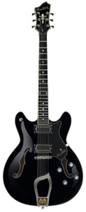 "<h1 class=""pos-title""><a title=""Viking®"" href=""http://www.hagstromguitars.eu/index.php/electric-guitars/viking-models/item/viking"">Viking®</a> The all-rounder</h1> <div class=""pos-description""> <div class=""element element-text first"">Vikings took no prisoners and neither will this versatile and elegant instrument. The all-rounder, it covers all genres, from blues to rock/fusion, jazz - and back.</div> <div class=""element element-textarea last""> <div> <p> </p> </div> </div> </div> <div class=""pos-specification""> <h3>Specifications</h3> <ul> <li class=""element element-select first""><strong>Body:</strong>Semi-Hollow Contoured Ply Maple</li> <li class=""element element-select""><strong>Neck:</strong>Canadian Hard Maple, set</li> <li class=""element element-select""><strong>Fingerboard:</strong>Resinator™ Fretboard with Hagstrom 6mm Dot Position Marks</li> <li class=""element element-select""><strong>Fretboard Radius:</strong>14</li> <li class=""element element-select""><strong>Trussrod:</strong>H-Expander</li> <li class=""element element-select""><strong>Tuning Keys:</strong>Hagstrom 18:1 Die Cast</li> <li class=""element element-select""><strong>Scale Length:</strong>24,75"" / 628 mm / Graph Tech™ Black Tusq XL 43mm nut</li> <li class=""element element-checkbox""><strong>Pickups:</strong>2 x Hagstrom HJ-50</li> <li class=""element element-select""><strong>Pickup Selector:</strong>3-Way Toggle 3-Way Toggle Switch</li> <li class=""element element-select""><strong>Bridge:</strong>Long Travel Tune-O-Matic w/ Hagstrom Trapeze Tail Piece</li> <li class=""element element-checkbox""><strong>Controls:</strong>2 x Volume 2 x Tone</li> <li class=""element element-select""><strong>String Gauge (Factory):</strong>D'Addario EXP110 (10-46)</li> <li class=""element element-checkbox""><strong>Hagstrom Case:</strong>C-55 (Optional)</li> <li class=""element element-checkbox last""><strong>Hag-Bag:</strong>E-25 (Optional)</li> </ul> </div>"