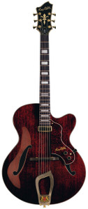 "<p>OVERVIEW</p> <div id=""detailsContainer""> <div class=""details""> <p class=""overviewSubHeading"">Full bodied jazz goodness. The perfect design meets the perfect sound. Single-minded in its elegance.</p> <p class=""description"">The Hagstrom Jazz Model HL-550 Hollowbody Electric Guitar features a mahogany body and set mahogany neck. The Hagstrom patented H-Expander truss rod provides tension at either end and runs the entire length of the neck. The rigid yet lightweight alloy truss rod allows for very low action and a thin neck. <br /><br />Another Hagstrom exclusive is the resinator fretboard, an extraordinary, homogeneous wood composite that maintains a strong fundamental harmonic and eliminates wolf tones. It offers the articulate sound of high quality ebony but with more consistency and durability. Silky smooth, reliable and fast. <br /><br />The Hagstrom Jazz HL-550 Guitar has a single floating custom HF-50 humbucker, combined with the resonant hollowbody to provide lots of warm, rich tone. <br /><br />The self-lubricating graphite composite nut is much harder than bone or plastic resulting in more string vibration through the neck. Tuning is also improved and string binding is eliminated by self-lubrication. <br /><br />A long travel Tune-O-Matic-style bridge and trapeze tailpiece further increase tone, sustain, and intonation quality. <br /><br />18:1 Gear Ratio machine heads ensure fully accurate tuning. <br /><br />A high-grade polyester finish that is hard, smooth, and more dense than polyurethane. The finish on the Hagstrom HL-550 electric guitar looks great and provides excellent protection and sonic performance. Case sold separately.</p> </div> </div>"