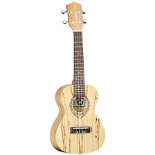 "The Tanglewood Tiare TWT10 is surely one of the most visually attractive and unique instruments in the whole range. A concert size instrument in high gloss finish, this ukulele has timbers crafted from exotic Spalt Maple. Spalt Maple is a term used in manufacturing, derived from the words ""spoilt Maple"" and it has a very unique claim to fame. This timber has been retrieved from mountain lakes and creeks, where for generations it has laid submerged in water and gradually taken on a unique grain identity, noticeable by the striking ebony marks on the otherwise pale maple timber. Retrieved, seasoned and kiln dried for precise manufacturing, Spalt Maple is a very unique and rare timber that has a great story to tell and its cosmetic is without doubt a key part of its popularity. The TWT10 has the Tiare trademark ""Fiddleback"" contouring on the rear of the body for increased sound projection and enhanced tonality and is fitted as standard with the class leading Aquila strings from Italy. If you want a concert ukulele which quite possibly began its life as a Maple tree over three hundred years ago and has been weathered and aged by natural elements into the work of art cosmetic you see on our images, then this is the instrument for you."