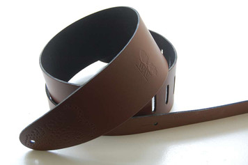 Whitestone & Willow Classic Series Chocolate Leather Guitar Strap