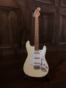 Collectible Miniature Guitar - Olympic White
