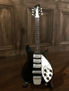 Collectible Miniature 60's Guitar - Black