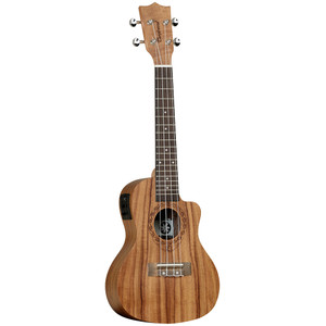 "<table style=""width: 212px;"" border=""0"" cellspacing=""0"" cellpadding=""0""> <tbody> <tr> <td class=""xl63"" width=""212"" height=""20"">Tanglewood Tiare ukuleles have been researched and developed<br /> with patience and diligence. With influences from Polynesia, the<br /> name itself is taken from the national flower of Tahiti, capturing the<br /> essence of the South Pacific ensuring the Tiare models exemplify an<br /> authentic and traditional representation of the art of the ukulele.<br /> The Tiare ukuleles are made up of a contrasting range of exotic materials,<br /> from stunning Black Walnut to Figured Hawaiian Koa tone woods, specially<br /> selected by Tanglewood to have beautiful figuring in the grain to make<br /> each instrument unique. Every ukulele features a luxury &ldquo;fiddleback&rdquo;<br /> contoured back for increased sound projection and volume and Aquila<br /> strings, usually found on only the most professional high priced instruments<br /> as standard equipment. Models are also fitted with neck truss rods, along<br /> with chrome metal machine heads for precise tuning.</td> </tr> </tbody> </table>"