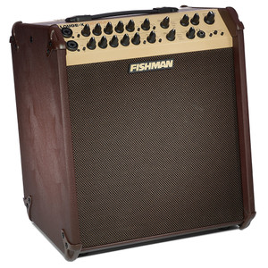 """<p></p> <p>FISHMAN LOUDBOX PERFORMER</p> <p>The Loudbox Performer is our most powerful acoustic amplifier, allowing you to be heard in any situation — solo or ensemble.</p> <p>The Loudbox Performer features 180 watts of transparent bi-amplified acoustic sound and two versatile input channels that accept both 1/4"""" and XLR sources for instruments and microphones. Each channel includes Fishman's renowned 3-band EQ, feedback-fighting controls, and a new effects section for more tonal options than ever before.</p> <p>The dedicated midrange control provides enhanced detail and note definition over conventional 2-way designs. An improved, integrated kickstand design allows the Loudbox Performer to be tilted back 50º for better sound projection at short range.</p> <p></p> <table class=""""productinfo""""> <tbody> <tr> <td class=""""infotitle"""" colspan=""""2"""">FEATURES & INFO</td> </tr> <tr> <td class=""""productinfoleft longtd""""> <p class=""""tabletitle"""">MODEL NUMBER:</p> </td> <td> <p>PRO-LBX-700</p> </td> </tr> <tr> <td colspan=""""2""""> <p>Two mic/instrument channels with 3-band EQ and feedback controls</p> </td> </tr> <tr> <td colspan=""""2""""> <p>Bi-amplified with passive crossover for tweeter and midrange</p> </td> </tr> <tr> <td colspan=""""2""""> <p>Long-throw acoustic suspension woofer for clean bass input gain control</p> </td> </tr> <tr> <td colspan=""""2""""> <p>Auxiliary stereo input with level control and 1/4"""" and 1/8"""" connectors</p> </td> </tr> <tr> <td colspan=""""2""""> <p>Dual digital effects section, with independent channel and effects level</p> </td> </tr> <tr> <td colspan=""""2""""> <p>Reverb, Chorus, Flanger, Delay, Echo and Slap Echo effects</p> </td> </tr> <tr> <td colspan=""""2""""> <p>Balanced XLR D.I. outputs on each channel and main mix</p> </td> </tr> <tr> <td colspan=""""2""""> <p>Channel Mute to silence both input channels</p> </td> </tr> <tr> <td colspan=""""2""""> <p>Headphone output</p> </td> </tr> <tr> <td colspan=""""2""""> <p>Three-way speaker design with built-in 10° baffle angle</p> </td> </tr> <tr> <td colspan="""