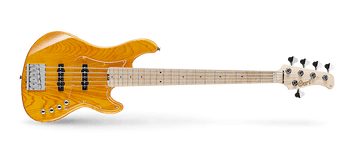 "A great bass has just the right blend of timeless design and modernized features. The GB7 mixes a proven body and bridge design with enhanced electronics, machine heads, and more to give you the best of the past and future.   Important Specifications:   Construction:                          Bolt-On. Cutaway:                                    Double Cutaway. Body:                                            Swamp Ash. Nut Width:                                47.5mm. Neck:                                            Canadian Hard-Maple. Fretboard:                                 Maple (305mm Radius) Frets:                                            21 Frets. Scale:                                            35"". Inlay:                                             Dot. Tuners:                                        Hipshot Ultralite Tuners. Bridge:                                        Omega Bridge. Pickups:                                      Voiced Tone VTB-ST pickups. Electronics:                              2 Band EQ with a passive-active push-pull.            Hardware:                                Chrome. Special:                                       Clear Pickguard. Features:  SWAMP ASH BODY  Swamp Ash is one of the most popular and widely-used woods for solid-body electric guitars and basses. It is lightweight but has a surprisingly strong, tight and punchy sound with an emphasis on the high-midrange. This character makes Swamp Ash a beloved tonewood of discriminating bassists who want a strong fundamental tone that will cut through and be heard clearly in the mix. The natural beauty of Swamp Ash with its distinctive grain patterns makes it ideal for transparent and natural finishes.  CANADIAN HARD MAPLE NECK   The Canadian hard Maple neck provides power and stability as well as contributing a warm, beefy and punchy tone with a strong upper midrange. Dense and rigid yet with just the right amount of tactile flexibility, it responds sensitively to your picking attack and slapping techniques with plenty of articulation and power.   VOICED TONE PICKUPS   The new Voiced Tone J-style single-coil pickups perfectly complement the big robust acoustic sound of the bass with modern clarity, transparency and vintage warmth. Painstakingly developed by Cort's engineers by drawing on decades of pickup winding experience, the Voiced Tone pickups feature the highest-grade components and winding techniques to allow the natural character of the guitar to be faithfully delivered to the amp.   OMEGA BRIDGE   The bridge on a bass is a big deal. This is where the energy of the big vibrating strings is transferred into the body, playing a critical role in shaping the overall sound of the instrument. The Omega bridge is constructed of solid steel and machined with the highest level of precision for the utmost in functionality as well as sonic integrity.   HIPSHOT ULTRALITE TUNERS   The Hipshot Ultralite tuners address one major issue on many classic and modern electric basses: the weight which causes the instrument to be neck-heavy and not balance properly whether the player is playing sitting down or standing up with a strap. These tuners greatly reduce the weight while offering the superb level of tuning precision and stability.   ERGONOMIC NECK JOINT   Designed and implemented to facilitate easy access to the upper register of the fingerboard, the new Ergonomic Neck Joint increases playing comfort while reducing tendon stress and awkward wrist and finger positions. Now you can solo away and reach the highest notes with confidence as well as greatly improved playability."