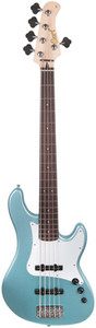 "Colour: Sea Foam Pearl Green - Colour: Green - Surface treatment: Gloss - Type: Jazz Bass - Body: Alder - Top: N/A - Fingerboard: Rosewood - Neck: Maple - Electronics: Passive - Number of Strings: 5 - Scale: 864 mm - Neck profile: Not specified - Radius: 9,4 "" - Number of frets: 20 - Nut Width: 47,5 mm - Pickup Configuration: S-S - Pickup model: 2x VTB-ST - Controls: 2x Volume - 1x Tone - Tuning machines: Cort - Hardware: Chrome - Hard Case: No - Case: No"