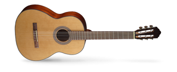 The traditional style AC models have been re-engineered to improve resonance for an authentic classical guitar sound. The nice combination of tone-woods yields a traditional, deep and delightfully mellow tone. Cort AC series is very forgiving of student mistakes,requiring slightly less precision and sharpness for a good tone.
