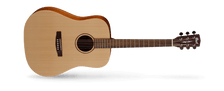 As Cort's homage to the great vintage acoustic guitars, the Earth Series represents the look, sound, feel and playability of those fine instruments with uncompromising quality and excellent value. Ideal for both flatpicking and fingerstyle players, the Earth Series guitars feature such time-tested classic materials like solid spruce top, Adirondack spruce top, mahogany back and sides and Madagascar rosewood.