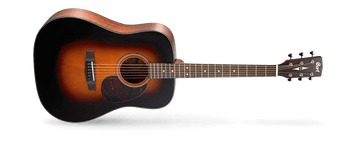 As Cort's homage to the great vintage acoustic guitars, the Earth Series represents the look, sound, feel and playability of those fine instruments with uncompromising quality and excellent value. The Earth Series guitars feature such time-tested classic materials like solid spruce top, Adirondack spruce top, mahogany back and sides and Madagascar rosewood.