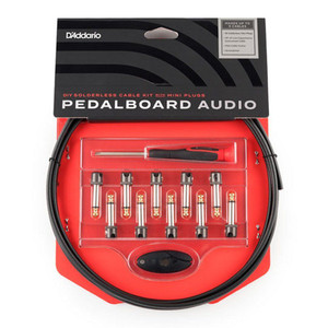 D'Addario's DIY Solderless Pedalboard Audio Cable Kit with Mini Plugs