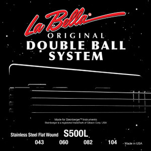 La Bella S500L-B Double Ball Bass Flat Wound - Light 43-128, 5-String