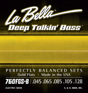 La Bella 760FGS-B Deep Talkin' Bass, Gold Flats, 5-String - Standard 45-128