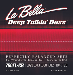 La Bella 760FL-CB Deep Talkin' Bass, Flat Wound Light, 6-String - 29-128