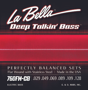 La Bella 760FM-CB Deep Talkin' Bass, Flat Wound, 6-String - Medium 29-128