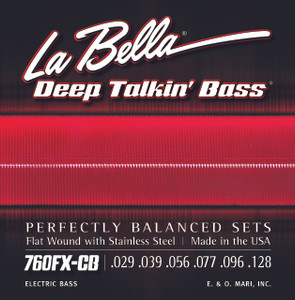 La Bella 760FX-CB Deep Talkin' Bass, Flat Wound, 6-String - Extra Light 29-128