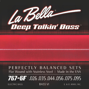 La Bella 767-6F Bass VI Stainless Steel Flat Wound - 26-95