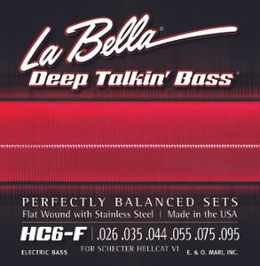 La Bella JC6-F Hellcat VI, Stainless Steel Flat Wound