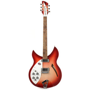 "Rickenbacker 330, Left-Handed Electric Guitar in Lacquered Redburst ""Fireglo"" Finish As part of arguably Rickenbacker's most recognisable model range (the 300 series), the 330 has been a mainstay on the popular music circuit since its introduction in the late 1950's, and is regularly associated with many key ""jangle-rock"" sounding guitar players from the 1960s and 1980s - including (amongst others) John Lennon, Paul Weller, Thom Yorke and Pete Townsend."