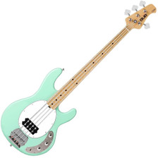 With a classically attractive body, a 9v powered active preamp and several great finishes, the Sterling by Music Man StingRay Sub Series Ray4 is an adaptable and dynamic instrument. Available in Honey Mint Green, the Ray4 delivers an enjoyable playing experience whether on a big stage or in a small bedroom.  Body Construction: Solid Body Material: Basswood Colour: Mint Green Orientation: Right Handed Neck Neck Material: Hard Maple Fingerboard Material: Jatoba Fret Size: Medium Number of Frets: 21 Nut Width: 38mm Scale Length: 86.4cm Hardware Bridge: Adjustable Hardware Finish: Chrome Electronics Configuration: H Bridge Pickup: Humbucker Controls: 1 Volume / 1 Tone / 2 Band Active Preamp Miscellaneous Case: None