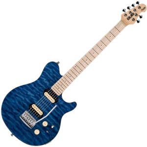 The AX3 is part of the Sterling SUB series which offers style and features plus great value making this guitar ideal for beginners or intermediate players. This distinctive guitar has a ton of versatile tones and a smooth Maple neck shaped for comfortable playing.