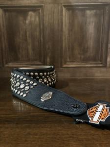 Harley Davidson Studded Leather Guitar Strap