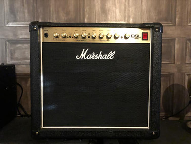 "Preowned Marshall DSL15c in pristine condition. Comes with original footswitch and mains lead. THis unit has also been PAT tested for safety.  Based on the critcally aclaimed and best selling JCM2000 DSL100 head, Marshall are proud to announce the great sounding and surprisingly affordable, all-valve Dual Super Lead (DSL) amps.  A compact, 15 Watt, all-valve 1 x12"" combo boasting 2 x 6v6 power valves and a Celestion Speaker. Its two footswitchable channels - Classic Gain (the DSL100H's clean option) and Ultra Gain (the DSL100H's Lead 2 option) - share the same, four way EQ network with controls for Treble, Middle, Bass and Presence. A Mid-Shift button reconfigures the mids when activated and a Deep switch adds extra low-end 'girth' if required. The built-in, footswitchable digital reverb is studio quality and a Pentode/ Triode switch on the rear panel drops the power to 7.5 Watts.  Specifications:  1 x 12"" Combo Celestion G12E-60 15 Watt Pentode Mode Output (RMS) 7.5 watt Triode Mode Output (RMS) 3 x ECC83 Pre-Amp valves 1 x ECC83, 2 x 6v6 Power Amp Valves Dual Footswitchable Channels 3 Band EQ, Mid-Shift and Presence Digital Reverb Pentode/Triode Switch PEDL-90003 1 way Footswitch (Supplied) Dimensions: 505 x 475 x 255 Weight (kg) 16.8"
