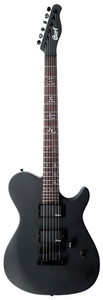 """The Cort M-Jet Electric Guitar in Matt Black is the lovechild of Cort and Manson Guitar Works UK. Although sharing many similarities with the immensely popular Matt Bellamy MBC-1, the M-JET is its own beast.   As part of the MS Series the M-Jet features the signature Cort single cutaway MA body shape with their 'tummy cut' contour, resulting in a super comfortable instrument that is equally as aesthetically pleasing with elegant lines and menacing stance.   Visually and practically this guitar has many interesting quirks with Cort scrapping any tone knob for a no-nonsense approach, classy Chinese script taking the place of generic block or dot inlays and choosing a finish that looks like a military stealth bomber.    Standard issue with this MS Series M-Jet guitar is a bulletproof 'Tune-O-Matic' bridge with a stop bar, both of which are finished in a black finish. This is then perfectly complimented with die cast locking machine heads and Cort have delivered an instrument with excellent tuning stability, awesome sustain and strong string to body relationship that means it can rival guitars with twice its price tag.   On the M-Jet players will find a primed and ready humbucking duo. This is where Manson really come in as each and every MS Series instrument receives their pickups straight from the Manson UK headquarters. In the bridge position players will love the angry voicing with power, punch and bite readily available in bucket loads, while the neck is the perfect match with a more vintage tonal character that is warm and articulated. This makes it perfect for fat rhythms or soaring lead!   Matt black finish Single cutaway American Basswood body Ergonomic body contour  Dual Manson humbucker pickups Fully adjustable bridge and stopbar tailpiece  Unique Manson designed Chinse script 'Hanji' inlays Cort staggered die cast locking tuners Bolt on construction Canadian Hard Maple neck  Rosewood fretboard  24 frets 25.5"""" scale length  1 volume knob 3 way selector switch"""