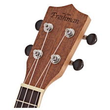 The Freshman UKSPRUS  spruce and mahogany ukulele produces a sound faithful to the instrument's origins. Beautifully presented, and available in soprano size, this ukulele is a great choice for those graduating from an entry-level instrument. Whether this is your first uke or part of a growing collection, Freshman's award-winning heritage can be heard in every strum.