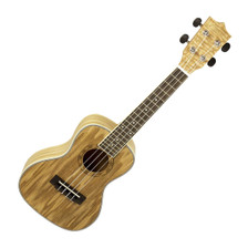 The Freshman UKASHC Concert Ukulele is a versatile instrument for the developing musician. The concert sized body balances even tones with long sustain for pronounced notes. The UKASHC's Ash body with Rosewood fingerboard resonates loudly with excellent clarity. The white binding and patterned rosette are smart aesthetic additions to the natural finish.