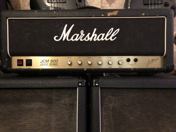 1987 Marshall 2204 JCM800 50w Head - Not a reissue this is a 32 year old classic! Sounds just like you'd expect a vintage Marshall to sound ( LOUD ) ....these really are the sound of rock!  In perfect working condition with only some marking to the tolex to detract.  As with all used items the photos provided form part of the description so please study them carefully