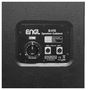 The ENGL E410B 4×10'' Pro Bass Cabinet delivers 1200 watts of raw power through Celestion BL 10-200X drivers. These speakers give a rich, warm tone that has a powerful low-end thump. When mounted in a solid cabinet in a 4x10 arrangement, they give stunning focus and projection on stage. The warm tone of the Celestion drivers is complemented with an Eminence APT-80 horn, to provide a refined top-end with bright overtones. The horn has its own volume control so you can achieve the exact level of brightness that you require. With completely solid construction from ENGL, this is a fully gig-ready cabinet that is made to deliver warm tones and withstand the rigours that a busy musician's lifestyle will impart on it.