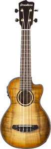 Breedlove Lu'au Concert Cutaway Electro-Acoustic Ukulele All-Myrtlewood Natural Shadow