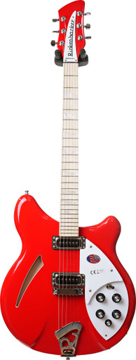 Limited Edition Pillar Box Red - This guitar broke all the rules of traditional styling when it appeared amid the 'British' sound of the 1960's. Subtly updated through the years, this Deluxe hollow body with its special contour around the entire body perimeter, is still perhaps the most comfortable guitar of all. The bound body and Rosewood fingerboard, inlaid with triangular pearloid markers, provide an exceptionally attractive appearance. Stereo output is standard