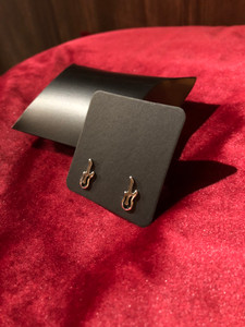 Guitar Earrings - Silver FInish