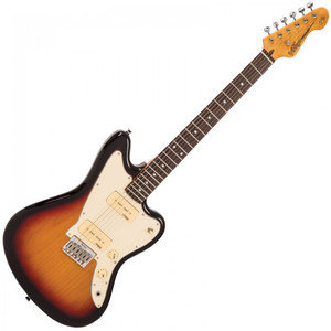 Vintage V65 ReIssued Hard Tail Electric Guitar ~ Tobacco Sunburst