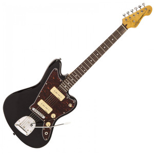 Vintage V65 ReIssued Vibrato Electric Guitar ~ Gloss Black