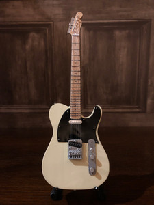 Collectable Miniature Guitar - Telecaster - Cream