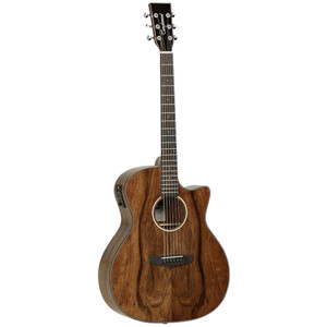 Evolution Exotic models have been designed using familiar and popular body shapes available throughout the Tanglewood range, but built in Luxury timbers - Ovangkol, Pacific Walnut, Maple, Koa, Bubinga & Zebrano. Classic Dreadnought Cutaway & Super Folk bodies are joined by the Venetian Cutaway Jumbo model, and the range is finished of with the TWB Z Baritone guitar, which also features a hand selected Solid Spruce top. Each model is fitted with the B-Band M-450T EQ system, whilst the Baritone is fitted with the Fishman Presys, giving optimum performance throughout the range.