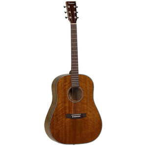 "<h3>Sloped Shoulder Dreadnought Profile</h3> <p>The Tanglewood TW40 SDD features the iconic Dreadnought body shape, often considered the standard for styles such as folk, country and bluegrass. Delivering a powerful yet focused tone with rich sustain, this classic guitar style is suited to everything from aggressive strumming to delicate finger picking. The TW40 SDD's upper bout features rounded, sloping shoulders, which gives it a slightly softer and more mellow tone than the standard square-shouldered Dreadnoughts.</p> <p class=""br""> </p> <h2>Specifications</h2> <p><strong>Body & Bridge</strong></p> <ul> <li><strong>Body: </strong>Sloped Shoulder Dreadnought</li> <li><strong>Top: </strong>Solid Mahogany</li> <li><strong>Back & Sides: </strong>Mahogany</li> <li><strong>Bridge: </strong>Rosewood</li> <li><strong>Binding: </strong>ABS Black & White (Top), ABS Black (Side)</li> <li><strong>Finish: </strong>Natural Gloss</li> </ul> <p><strong>Neck & Fingerboard</strong></p> <ul> <li><strong>Neck: </strong>Mahogany</li> <li><strong>Fingerboard: </strong>Rosewood</li> <li><strong>Nut Width: </strong>44.5 mm</li> <li><strong>Scale Length: </strong>650 mm</li> </ul> <p><strong>Hardware</strong></p> <ul> <li><strong>Strings: </strong>D'Addario® 12-53</li> <li><strong>Machine Heads: </strong>Small Button Enclosed Chrome</li> <li><strong>Bridge Pins: </strong>ABS Black, White Dots</li> </ul>"