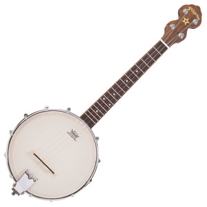 The classic ukulele banjo, built to Paul Tebbutt's exacting standards and featuring an open back and resonator models.